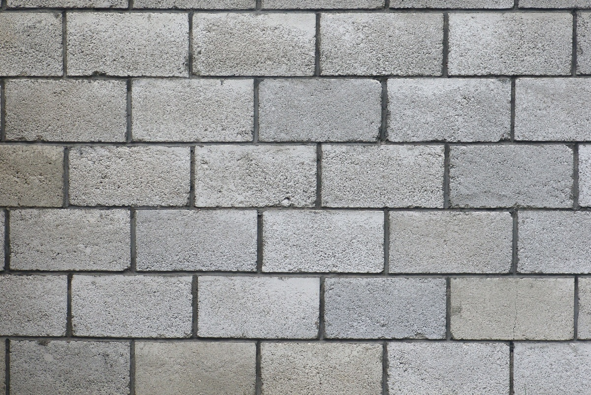 The wall of concrete blocks.texture.  images stock  Texture and background Texture